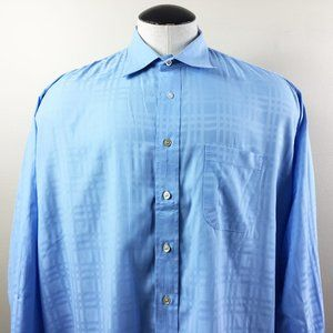 P22 Burberry Blue Button Front Shirt